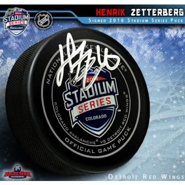 Henrik Zetterberg Autographed 2016 NHL Stadium Series Official Game Puck