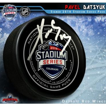 Pavel Datsyuk Autographed 2016 NHL Stadium Series Official Game Puck