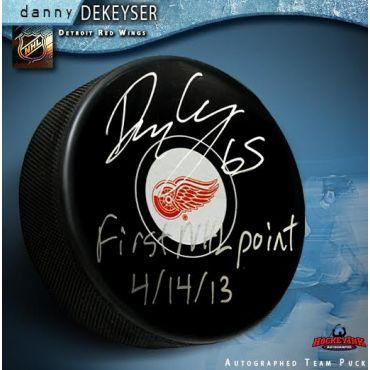Danny Dekeyser Detroit Red Wings Autographed and Inscribed Puck