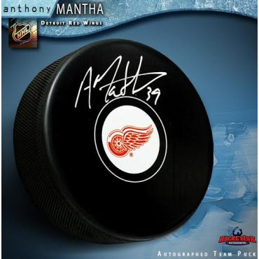 Anthony Mantha Detroit Red Wings Autographed Hockey Puck