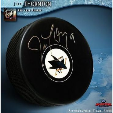 Joe Thornton San Jose Sharks Autographed Hockey Puck