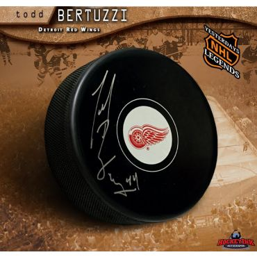 Todd Bertuzzi Autographed Detroit Red Wings Hockey Puck