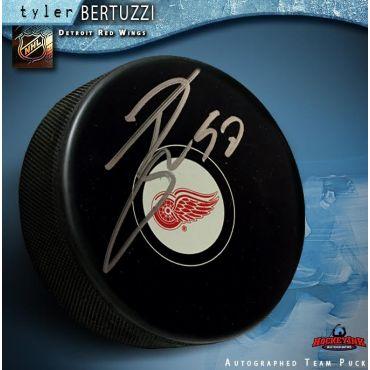 Tyler Bertuzzi Autographed Detroit Red Wings Hockey Puck