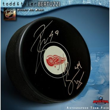 Todd and Tyler Bertuzzi Dual-Autographed Detroit Red Wings Hockey Puck