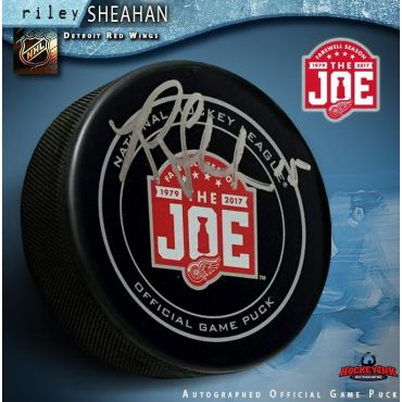 Riley Sheahan Autographed Detroit Red Wings Farewell to the Joe Official Game Puck