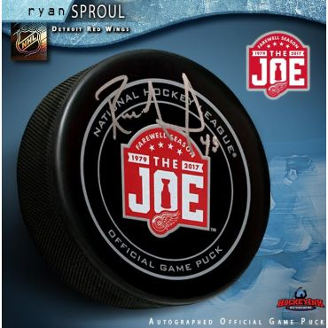Ryan Sproul Autographed Detroit Red Wings Farewell to the Joe Official Game Puck