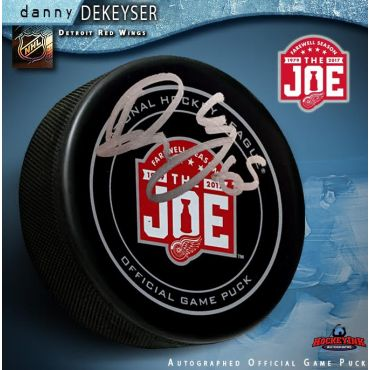 Danny DeKeyser Autographed Detroit Red Wings Farewell to the Joe Official Game Puck