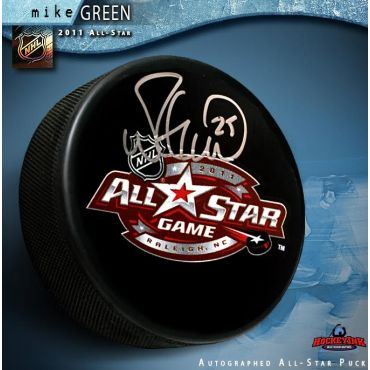c0dd56ffa7f Mike Green Autographed 2011 NHL All-Star Game Puck