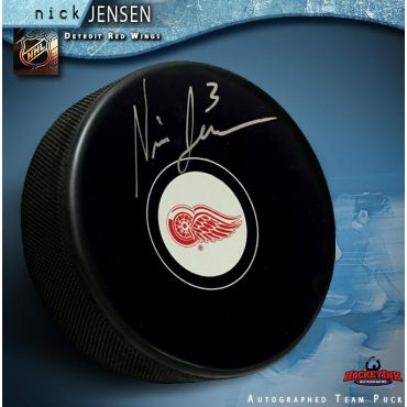 Nick Jensen Autographed Detroit Red Wings Hockey Puck