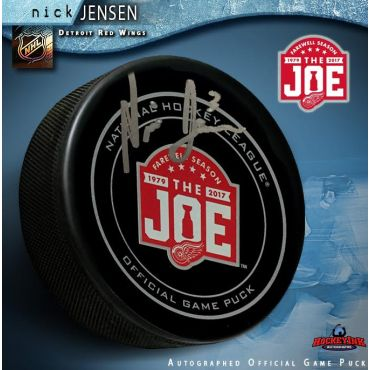Nick Jensen Autographed Detroit Red Wings Farewell to the Joe Official Game Hockey Puck