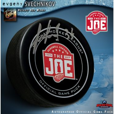 Evgeny Svechnikov Autographed Detroit Red Wings Farewell to the Joe Official Game Hockey Puck