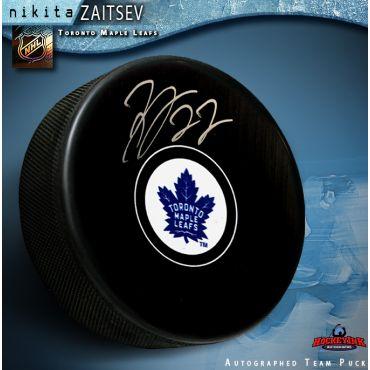 Nikita Zaitsev Autographed Toronto Maple Leafs Hockey Puck