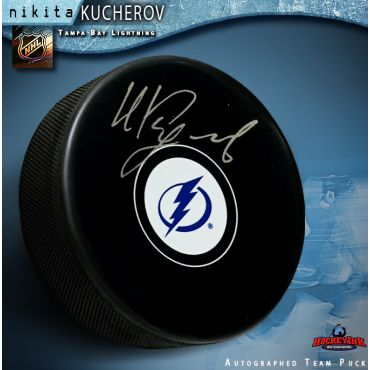 Nikita Kucherov Autographed Tampa Bay Lightning Hockey Puck