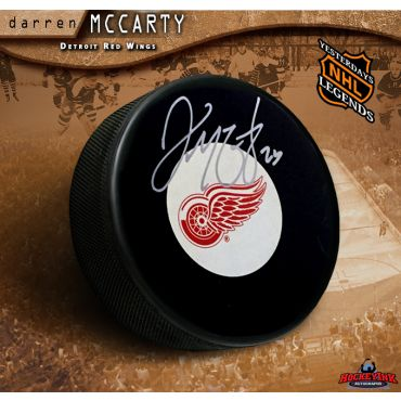 Darren McCarty Autographed Detroit Red Wings Hockey Puck