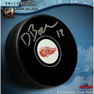 David Booth Autographed Detroit Red Wings Hockey Puck