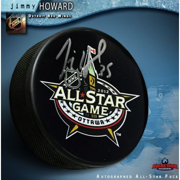 Jimmy Howard Autographed 2012 All Star Game Hockey Puck