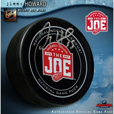 Jimmy Howard  Autographed Detroit Red Wings Farewell to the Joe Official Game Puck