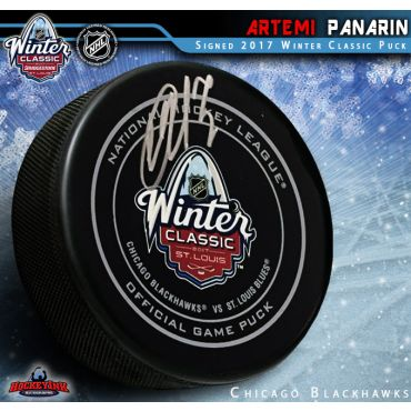 Artemi Panarin Autographed Chicago Blackhawks Winter Classic 2017 Official Game Puck