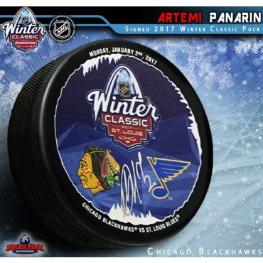 Artemi Panarin Autographed Chicago Blackhawks Winter Classic 2017 Puck