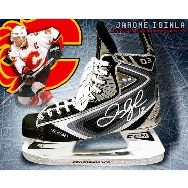 Jarome Iginla Calgary Flames Autographed CCM Model Skate