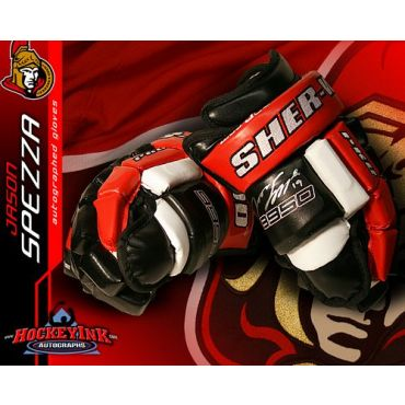 Jason Spezza Ottawa Senators Autographed Sherwood Model Gloves