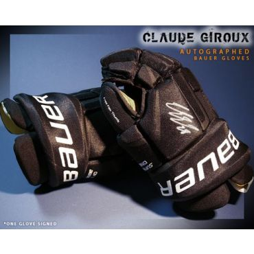 Claude Giroux Philadelphia Flyers Autographed Bauer Model Gloves