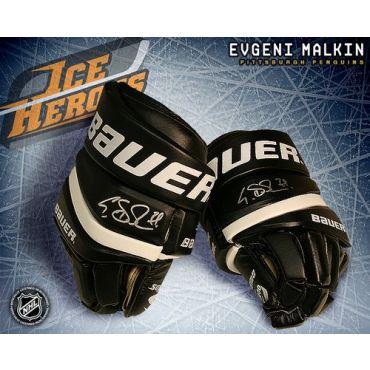Evgeni Malkin Pittsburgh Penguins Autographed Bauer Model Gloves