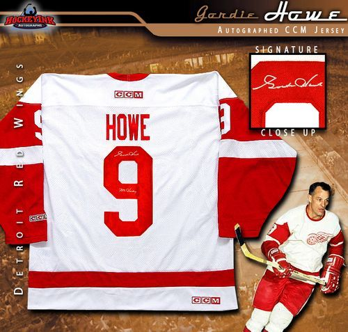 super popular 60e15 7abb3 Gordie Howe Detroit Red Wings Autographed White Jersey