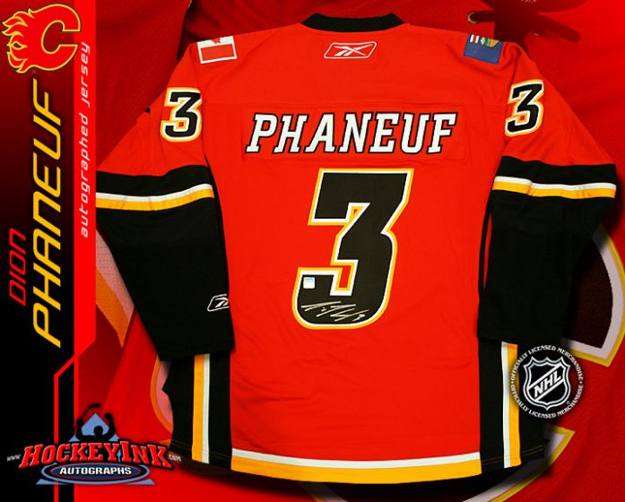 Dion Phaneuf Calgary Flames Red Reebok Premier Jersey