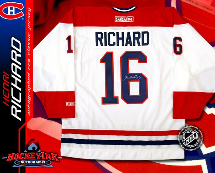 uk availability 7540c 4061c Henri Richard Montreal Canadiens White CCM Replica Jersey