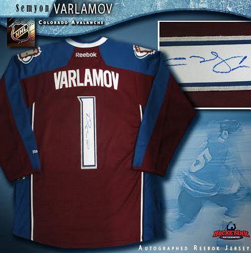best service 7dc97 264cd Semyon Varlamov Colorado Avalanche Autographed Burgundy Reebok Jersey
