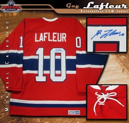 the best attitude db070 8cb7d Guy Lafleur Montreal Canadiens Autographed Red Vintage CCM Jersey