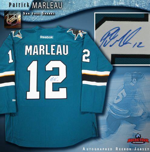 new arrival cf77b 62b8e Patrick Marleau San Jose Sharks Autographed Teal Reebok Jersey
