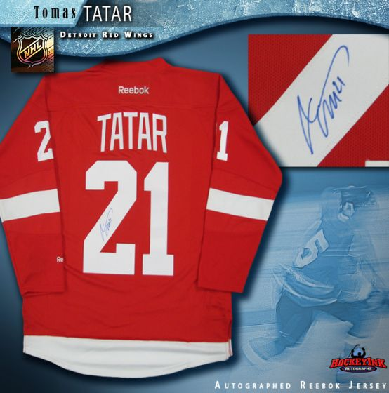 7be9e7652dd Tomas Tatar Detroit Red Wings Autographed Red Reebok Jersey