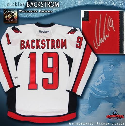 brand new 7ac52 146d2 Nicklas Backstrom Washington Capitals Autographed White Reebok Jersey