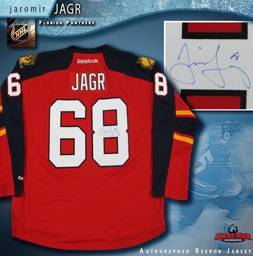 buy online 20edd 11386 Jaromir Jagr Florida Panthers Autographed Red Reebok Jersey