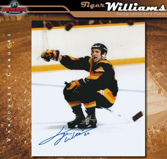 Tiger Williams Toronto Maple Leafs Autographed Enforcer Fight 8x10 Photo