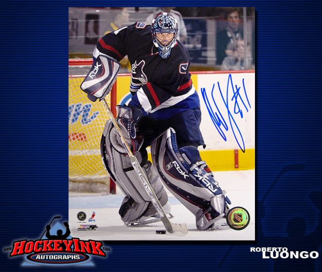 Roberto Luongo Vancouver Canucks 8 X 10 Autographed Photo