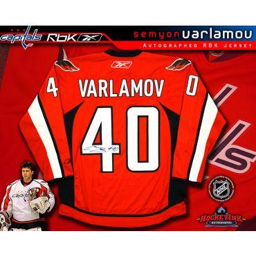 Semyon Varlamov Washington Capitals Autographed Red Reebok Premier Jersey