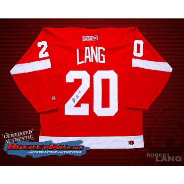 Robert Lang Detroit Red Wings Autographed Red Jersey