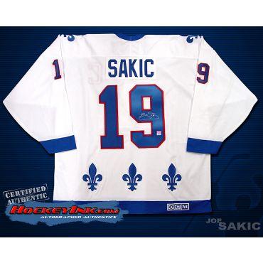 Joe Sakic Quebec Nordiques White Jersey