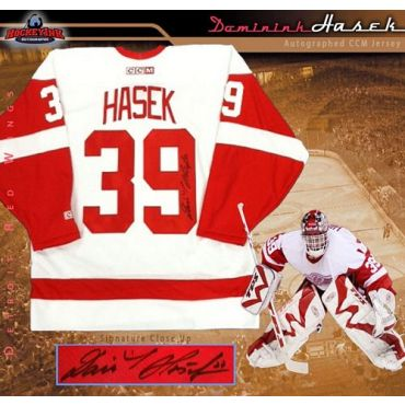Dominik Hasek Detroit Red Wings White CCM Replica Jersey