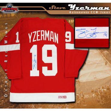 Steve Yzerman Autographed Detroit Red Wings Red CCM Jersey