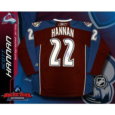 Scott Hannan Colorado Avalanche Burgundy Reebok Premier Jersey
