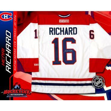 Henri Richard Montreal Canadiens White CCM Replica Jersey