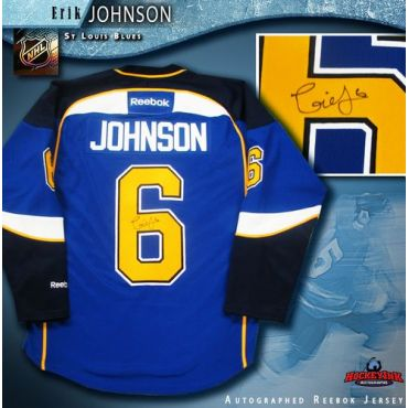 Erik Johnson St. Louis Blues Blue Reebok Premier Jersey