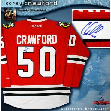 Corey Crawford Chicago Blackhawks Autographed Red Reebok Jersey