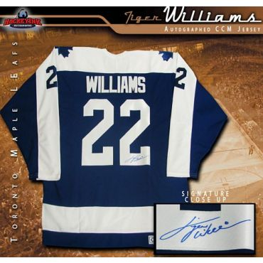Tiger Williams Toronto Maple Leafs Autographed Blue CCM Jersey
