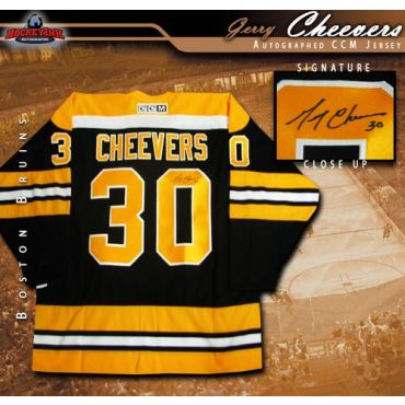 Gerry Cheevers Boston Bruins Autographed Black CCM Jersey