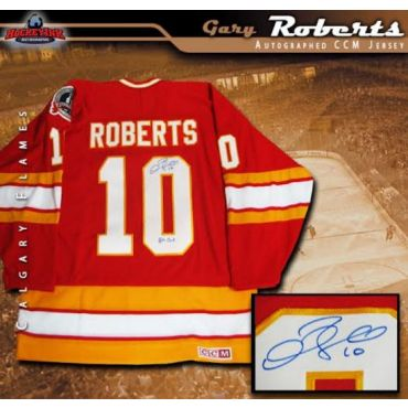 Gary Roberts Calgary Flames Autographed CCM Jersey